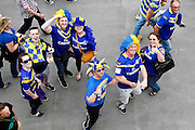 Warrington Fans arrive at Wembley for the Challenge Cup Final 2016 match between Warrington Wolves and Hull FC at Wembley Stadium, London, England on 27 August 2016. Photo by Craig Galloway.