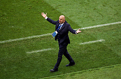 MOSCOW, RUSSIA - Sunday, July 1, 2018: Russia's head coach Stanislav Cherchesov reacts during the FIFA World Cup Russia 2018 Round of 16 match between Spain and Russia at the Luzhniki Stadium. (Pic by David Rawcliffe/Propaganda)