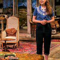 The Chalk Garden by Enid Bagnold;<br /> Directed by Alan Strachan;<br /> Emma Curtis (as Laurel);<br /> Chichester Festival Theatre; Chichester;<br /> 30 May 2018.<br /> © Pete Jones<br /> pete@pjproductions.co.uk