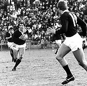 Scotland flanker David Leslie in action.<br /> Scotland (39) v King Country (13) in Taumarunui on 27 May 1981.<br /> Copyright photo: Ron Cooke / www.photosport.nz