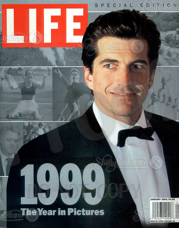 Jan 01, 2000; New York, NY, USA; LIFE Magazine Special Edition 1999 'The Year in Pictures'. Cover photo of JOHN F. KENNEDY JR in a tuxedo.  On July 19, 1999 JFK Jr and his wife died when their plane crashed off the coast of Martha's Vineyard. <br />