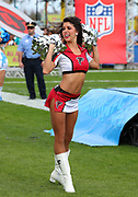 Jan 23, 2019; Kissimmee, FL, USA; Atltanta Falcons cheerleader performs during the 2019 Pro Bowl Skills Challenge at ESPN Wide World of Sports Complex. (Steve Jacobson/Image of Sport)