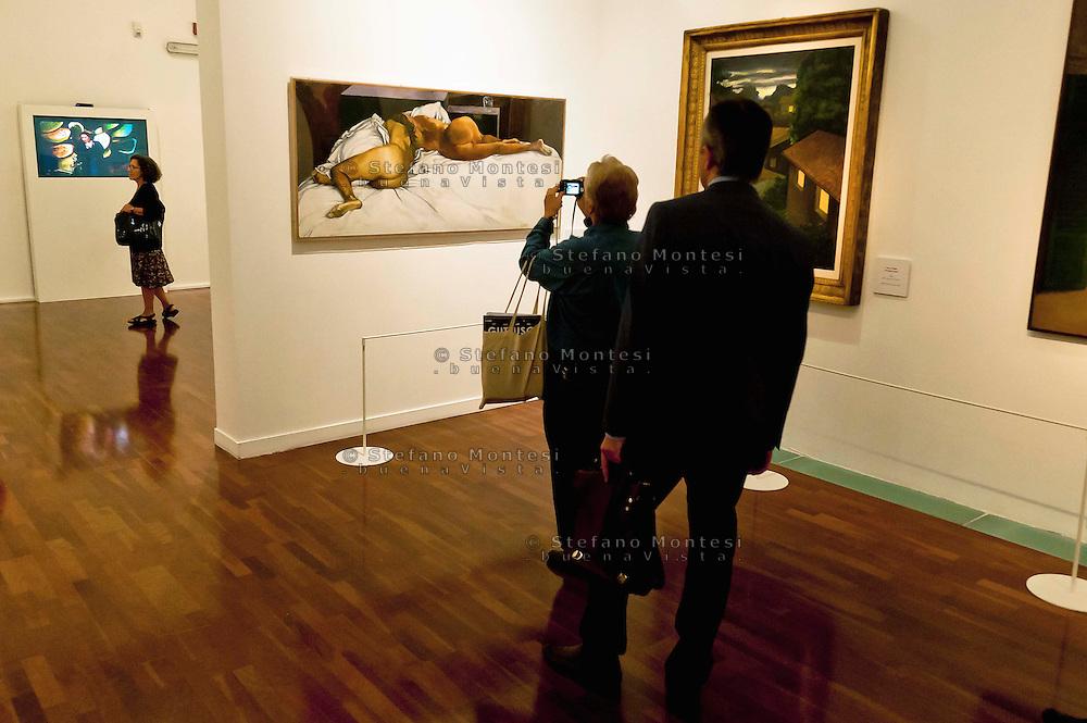Roma 11 Ottobre 2012.Guttuso a Roma.In occasione del centenario della nascita di Renato Guttuso  al Vittoriano una grande mostra dedicata all'artista. ..