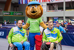 Bojan Lukezic and Primoz Kancler of Slovenia at 15th Slovenia Open - Thermana Lasko 2018 Table Tennis for the Disabled, on May 9, 2018, in Dvorana Tri Lilije, Lasko, Slovenia. Photo by Vid Ponikvar / Sportida