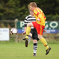 Darren Meehan Avenue United on the ball against Moher Celtic in the U13 Cup Final.<br /> Photograph by Flann Howard