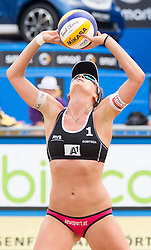 30.07.2014, Strandbad, Klagenfurt, AUT, FIVT, A1 Beachvolleyball Grand Slam 2014, Hauptrunde, im Bild Lena Maria Plesiutschnig (AUT) // during Main Draw Match of the A1 Beachvolleyball Grand Slam at the Strandbad Klagenfurt, Austria on 2014/07/30. EXPA Pictures © 2014, EXPA Pictures © 2014, PhotoCredit: EXPA/ Johann Groder