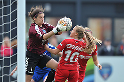Helen Alderson of Durham Ladies denies Bristol City Women - Mandatory by-line: Paul Knight/JMP - 24/09/2016 - FOOTBALL - Stoke Gifford Stadium - Bristol, England - Bristol City Women v Durham Ladies - FA Women's Super League 2