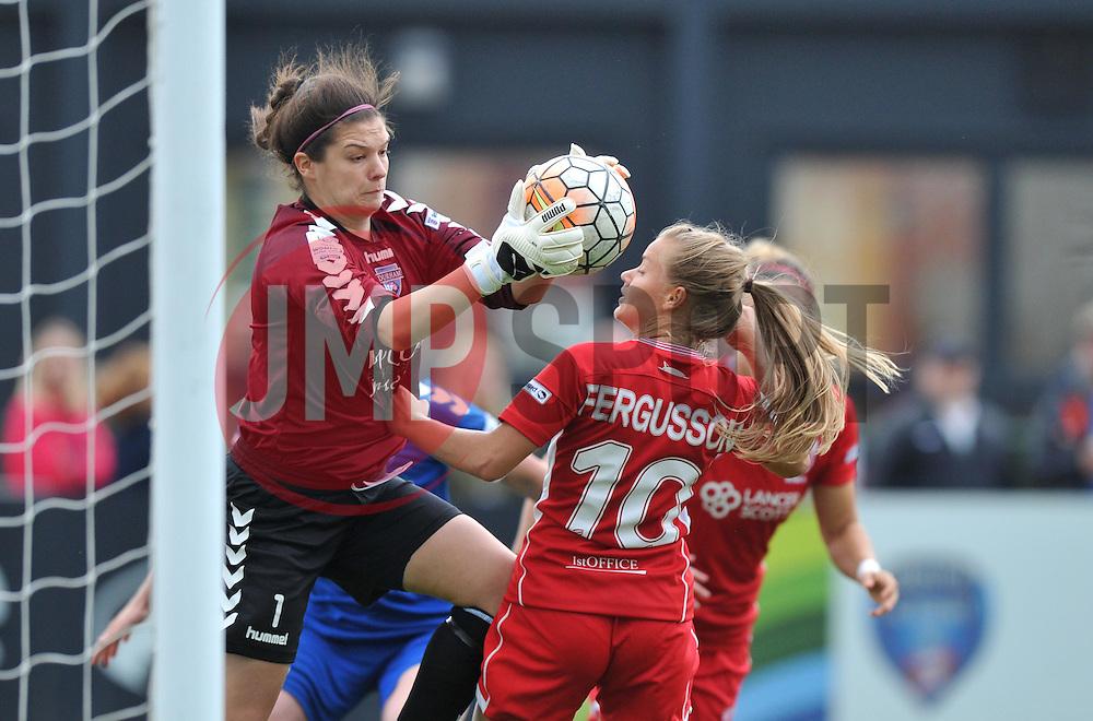 Helen Alderson of Durham Ladies denies Bristol City Women - Mandatory by-line: Paul Knight/JMP - 24/09/2016 - FOOTBALL - Stoke Gifford Stadium - Bristol, England - Bristol City Women v Durham Ladies - FA Women's Super League 2