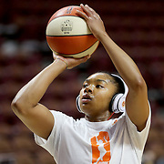 UNCASVILLE, CONNECTICUT- MAY 26: Alex Bentley #20 of the Connecticut Sun iduring practice before the Los Angeles Sparks Vs Connecticut Sun, WNBA regular season game at Mohegan Sun Arena on May 26, 2016 in Uncasville, Connecticut. (Photo by Tim Clayton/Corbis via Getty Images)