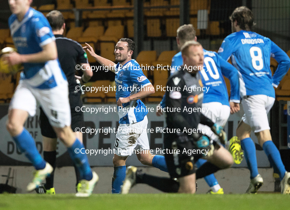 St Johnstone v Motherwell&Ouml;17.12.16     McDiarmid Park    SPFL<br /> Chris Kane celebrates his goal<br /> Picture by Graeme Hart.<br /> Copyright Perthshire Picture Agency<br /> Tel: 01738 623350  Mobile: 07990 594431