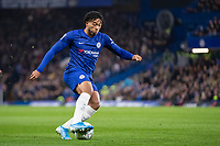 Football - 2019 / 2020 EFL Carabao (League) Cup - Fourth Round: Chelsea vs. Manchester United<br /> <br /> Chelsea youngster Reece James (Chelsea FC) in action as Frank Lampard,  Manager of Chelsea FC,  gives youth a chance at Stamford Bridge <br /> <br /> COLORSPORT/DANIEL BEARHAM