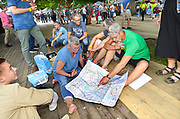 Nederland, Nijmegen, 16-7-2017Inschrijving voor de 101e vierdaagse. Op de Wedren schrijven lopers zich in voor de tocht die dinsdag begint . 30, 40 en 50 km. 46.000 deelnemers hebben zich aangemeld. Ze krijgen als startbewijs een polsbandje met een barcode die de controle op het parcours makkelijker maakt.The International Four Day Marches Nijmegen, or Vierdaagse, is the largest marching event in the world. It is organized every year in Nijmegen mid-July as a means of promoting sport and exercise. Participants walk 30, 40 or 50 kilometers daily, and on completion, receive a royally approved medal, Vierdaagsekruisje. The participants are mostly civilians, but there are also a few thousand military participants. The maximum number of 45,000 registrations has been reached. More than a hundred countries have been represented in the Marches over the years.FOTO: FLIP FRANSSEN