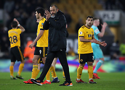 Wolverhampton Wanderers manager Nuno Espirito Santo after the Premier League match at Molineux, Wolverhampton.