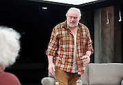 Forget Me Not <br /> by Tom Holloway <br /> directed by Steven Atkinson<br /> at The Bush Theatre, London, Great Britain <br /> press photocall <br /> 10th December 2015 <br /> <br /> Russell Floyd (as Gerry)<br /> <br /> Eleanor Bron (as Mary)<br /> <br /> <br /> <br />  <br /> Photograph by Elliott Franks <br /> Image licensed to Elliott Franks Photography Services