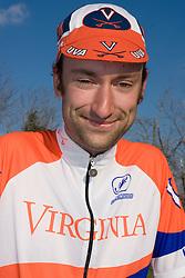 Virginia Cavaliers David Morris..Members of the University of Virginia Cycling Team met at Reeds Gap on the Blue Ridge Parkway in Virginia on April 9, 2007 for a team photo shoot.