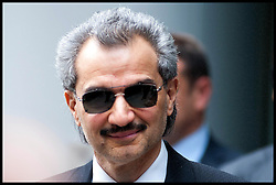 "Saudi Prince Al-Waleed Bin Talal Bin Abdul-Aziz Al-Saud arrives at the High Court to give evidence in a multimillion High Court fight over the sale of an airliner to former Libyan leader Colonel Muammar Gaddafi. Consultant Daad Sharab claims the Prince  owes her around £6.5 million commission for the part she played in a 2005 Airbus deal. Prince Al-Waleed disputes her claim and denies that any agreement was made for a ""specific commission"", London, United Kingdom<br /> Monday, 1st July 2013<br /> Picture by Piero Cruciatti / i-Images"