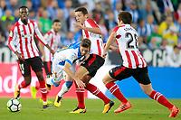 CD Leganes' Ruben Perez (c-l) and Athletic de Bilbao's Inaki Williams (l), Mikel Vesga (c-r) and Inigo Cordoba during La Liga match. October 22,2017. (ALTERPHOTOS/Acero)