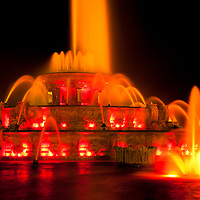 Buckingham Fountain at night  Chicago high resolution photo.