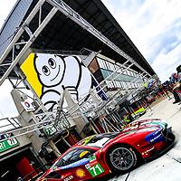 #71, AF Corse Ferrari, Ferrari 488 GTE EVO, LMGTE Pro, driven by: Davide Rigon, Sam Bird, Miguel Molina, 24 Heures Du Mans  2018  Test, 02/06/2018,