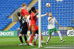 Josh Yorweth of Wales u21s (Cardiff City) scores a goal to make it 3-0 - Photo mandatory by-line: Dougie Allward/JMP - Mobile: 07966 386802 - 31/03/2015 - SPORT - Football - Cardiff - Cardiff City Stadium - Wales v Bulgaria - U21s International Friendly