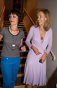 Hariet Walter and Kate Pakenham, '24 hour plays' charity evening at the Old vic Theatre. June 6 2004.  Kevin Spacey artistic director for 6 short plays written and rehearsed in 24 hours. ONE TIME USE ONLY - DO NOT ARCHIVE  © Copyright Photograph by Dafydd Jones 66 Stockwell Park Rd. London SW9 0DA Tel 020 7733 0108 www.dafjones.com