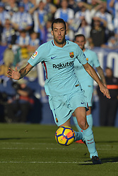 November 18, 2017 - Leganes, Madrid, Spain - Sergio Busquets during the match between CD Leganes vs. FC Barcelona, week 12 of La Liga at Butarque stadium, Leganes, Madrid, Spain on 18th November of 2017. (Credit Image: © Jose Breton/NurPhoto via ZUMA Press)