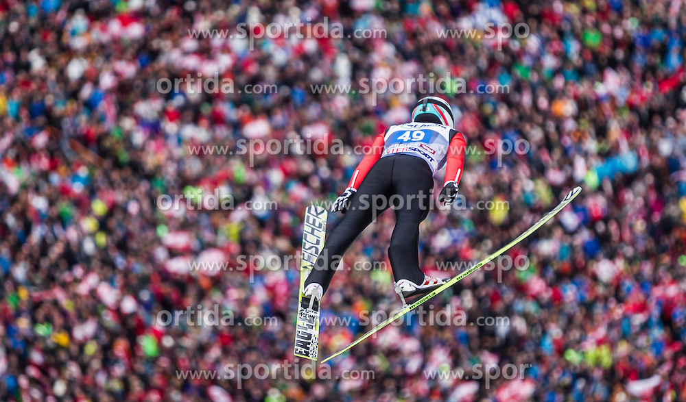 04.01.2014, Bergisel Schanze, Innsbruck, AUT, FIS Ski Sprung Weltcup, 62. Vierschanzentournee, Bewerb, im Bild Simon Ammann (SUI) // Simon Ammann (SUI) during Competition of 62nd Four Hills Tournament of FIS Ski Jumping World Cup at the Bergisel Schanze, Innsbruck, Austria on 2014/01/04. EXPA Pictures © 2014, PhotoCredit: EXPA/ JFK