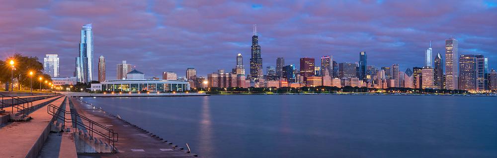 USA,Illinois, Midwest, Cook County, Chicago, Panorama, shedd aquaroium