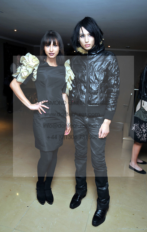 Left to right, LEAH WELLER and NAT WELLER at the PPQ after show parrty in association with Harveys as part of London Fashion Week 2009 held at the Mayfair Hotel, Stratton Street, London W1 on 19th September 2009.