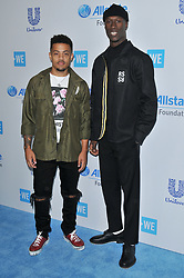 (L-R) Nico and Vinz arrives at We Day California 2017 held at The Forum in Inglewood, CA on Thursday, April 27, 2017. (Photo By Sthanlee B. Mirador) *** Please Use Credit from Credit Field ***