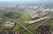 aerial photograph of former Sheffield City Airport  Sheffield West Yorkshire England UK