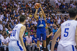 November 27, 2017 - Cubao, Quezon City, Philippines - Jayson Williams pull-off a jumper. Jayson Williams scored a total of 20 points in 7 out of 12 field goals.Gilas Pilipinas defended their home against Chinese Taipei. Game ended at 90 - 83. (Credit Image: © Noel Jose Tonido/Pacific Press via ZUMA Wire)