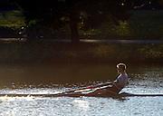 Boston, USA, Championship men'sSingle  NZL M1X Mahe DRYSDALE, Head of the Charles, Race Charles River,  Cambridge,  Massachusetts. Saturday  20/10/2007 [Mandatory Credit Peter Spurrier/Intersport Images]..... , Rowing Course; Charles River. Boston. USA