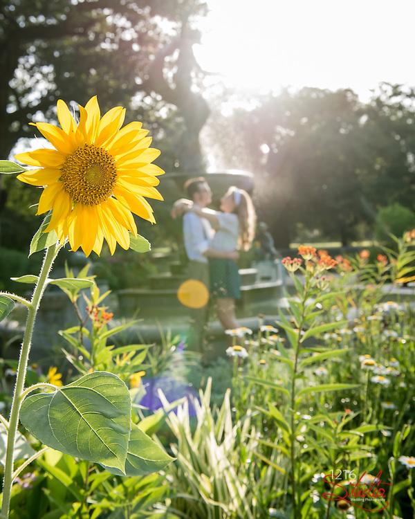 J. Paul & Claire Engagement Samples | Dot's Diner, Dance Studio, Audubon Park | 1216 Studio Wedding Photography
