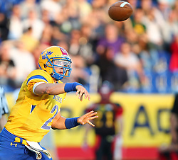 03.06.2014, NV Arena, St. Poelten, AUT, American Football Europameisterschaft 2014, Gruppe A, Schweden (SWE) vs Deutschland (GER), im Bild Philip Juhlin, (Team Sweden, QB, #2) // during the American Football European Championship 2014 group A game between Sweden vs Germany at the NV Arena, St. Poelten, Austria on 2014/06/03. EXPA Pictures © 2014, PhotoCredit: EXPA/ Thomas Haumer