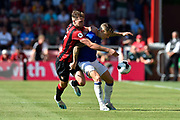 Jack Stacey (17) of AFC Bournemouth challenges Lucas Digne (12) of Everton during the Premier League match between Bournemouth and Everton at the Vitality Stadium, Bournemouth, England on 15 September 2019.