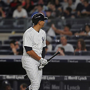 NEW YORK, NEW YORK - July 17: Alex Rodriguez #13 of the New York Yankees cleans his bat after running down the first baseline on a foul ball during the Boston Red Sox Vs New York Yankees regular season MLB game at Yankee Stadium on July 17, 2016 in New York City. (Photo by Tim Clayton/Corbis via Getty Images)