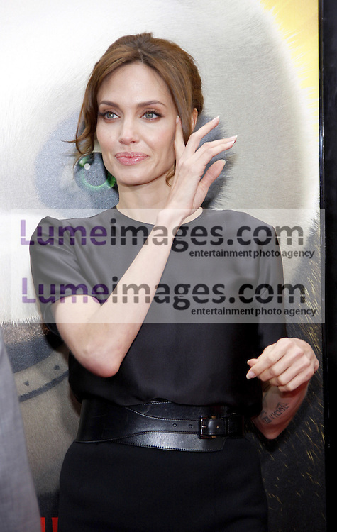 Angelina Jolie at the Los Angeles premiere of 'Kung Fu Panda 2' held at the Grauman's Chinese Theater in Hollywood, USA on May 22, 2011.