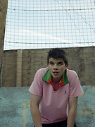Teenager In Urban Football Court
