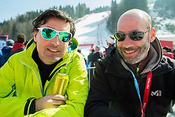 David Stropnik and Jure Ster of Pop TV during Men Giant Slalom race of FIS Alpine Ski World Cup 54th Vitranc Cup 2015, on March 14, 2015 in Kranjska Gora, Slovenia. Photo by Vid Ponikvar / Sportida