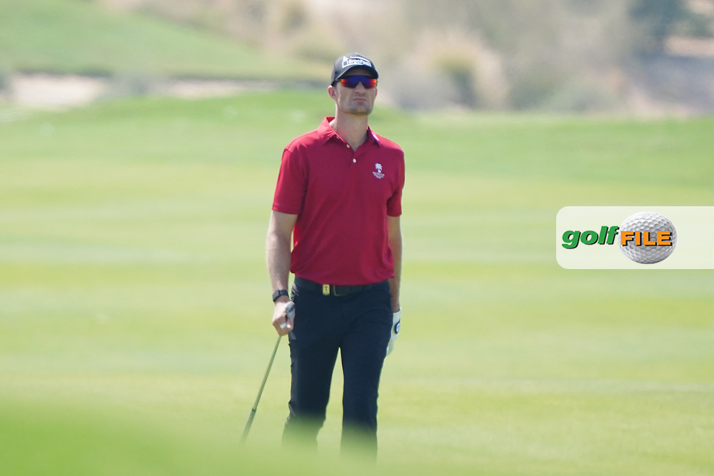 Sebastian Heisele (GER) on the 2nd during Round 2 of the Commercial Bank Qatar Masters 2020 at the Education City Golf Club, Doha, Qatar . 06/03/2020<br /> Picture: Golffile   Thos Caffrey<br /> <br /> <br /> All photo usage must carry mandatory copyright credit (© Golffile   Thos Caffrey)