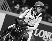 Diana Burnett rides Manny in the Horseware Indoor Eventing challenge at The Royal Horse Show, TORONTO, CANADA.  November 4 2016
