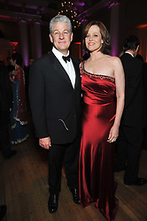 SIGOURNEY WEAVER and her husband JIM SIMPSON at the Royal Rajasthan Gala 2009 benefiting the Indian Head Injury Foundation held at The Banqueting House, Whitehall, London on 9th November 2009.