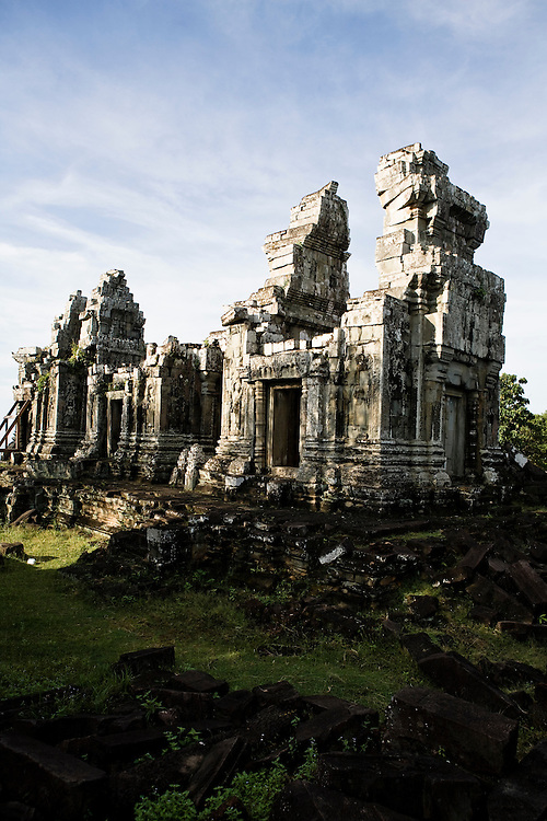 Temple at top of Phnom Bok mountain Angkor, Siem Reap, Cambodia.
