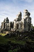 Temple at top of Phnom Bok mountain Angkor, Siem Reap, Cambodia.