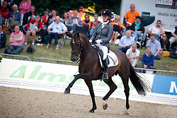 Zweistra Thamar (NED) - Hexagon's Charon W<br /> FEI World Breeding Dressage Championships for Young Horses - Verden 2013<br /> © Dirk Caremans