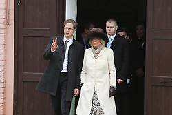 15.03.2016, Ivandvor, CRO, der Britische Kronprinz Charles und seine Frau Camilla besuchen Kroatien, im Bild Camilla, the Duchess of Cornwall visited the State Stud Farm in Ivandvor, one of the oldest horse farms in Europe, which was visited by Her Majesty The Queen and The Duke of Edinburgh in 1972. EXPA Pictures © 2016, PhotoCredit: EXPA/ Pixsell/ Marko Mrkonjic<br /> <br /> *****ATTENTION - for AUT, SLO, SUI, SWE, ITA, FRA only*****