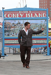 """Ben Foster looks unrecognizable as boxer Harry Haft while filming the 1940s biography movie """"HARRY HAFT"""" in Coney Island, Brooklyn with costar Vicky Krieps. The Movie is being directed by Barry Levinson. 29 May 2019 Pictured: Ben Foster. Photo credit: LRNYC / MEGA TheMegaAgency.com +1 888 505 6342"""