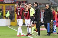 Milano - 26.11.2017 -   Milan-Torino - Serie A 14a giornata   - nella foto:  Nikola Kalinic sostituito da Patrick Cutrone tra i fischi del pubblico