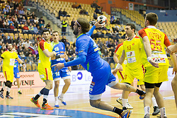 Dean Bombac of Slovenia during friendly handball match between National Teams of Slovenia and F.Y.R. of Macedonia before EHF EURO 2016 in Poland on January 5, 2016 in Arena Zlatorog, Celje, Slovenia. Photo by Urban Urbanc / Sportida